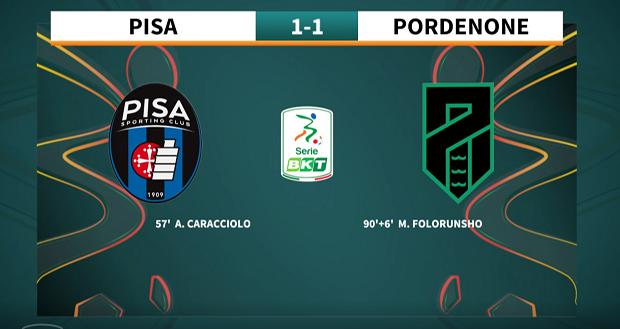 9a giornata Serie BKT 2021/2022 – Pisa – Pordenone