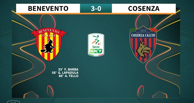 9a giornata Serie BKT 2021/2022 – Benevento – Cosenza